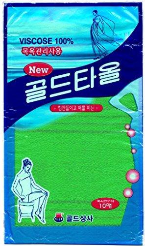 10 Washcloths - Asian Exfoliating Bath Washcloth (Large - 10 pcs)