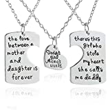 Best Lauhonmin Gifts For Fathers - 3pcs Family Pendant Necklace Set - Father Review