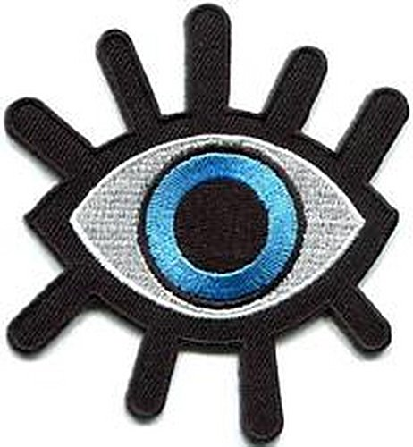 Goth Punk Vinyl (Spinner Patches Eye eyeball tattoo wicca occult goth punk retro applique iron-on patch IG #1045 Idea Bag Cloth Tee Shirt)