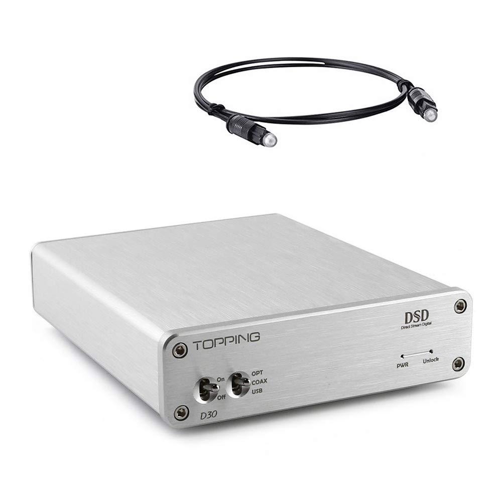 Fosi Audio Hi-Fi DAC Stereo Digital-to-Analog Adapter Decoder Converter DSD USB Coaxial Optical Fiber XMOS CS4398 24Bit/192KHz
