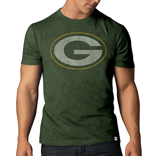 NFL Green Bay Packers Men's '47 Basic Scrum Tee, Bottle Green, Small Nfl Green Bay Packers Short