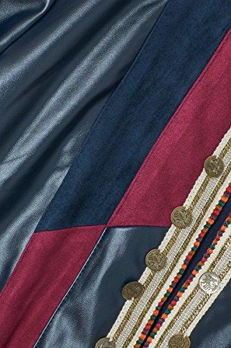 matiere Patchwork Couleurs Bi Similicuir Bordeaux Longues Disponible Veste 3 Dallas En Manches Femme Similidaim Paris Cherry TqHnExB1