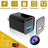 Mini Spy Hidden Camera USB Charger | 1080P Full HD Hidden Nanny Camera Home Security Cameras Loop Recording with 32GB Memory
