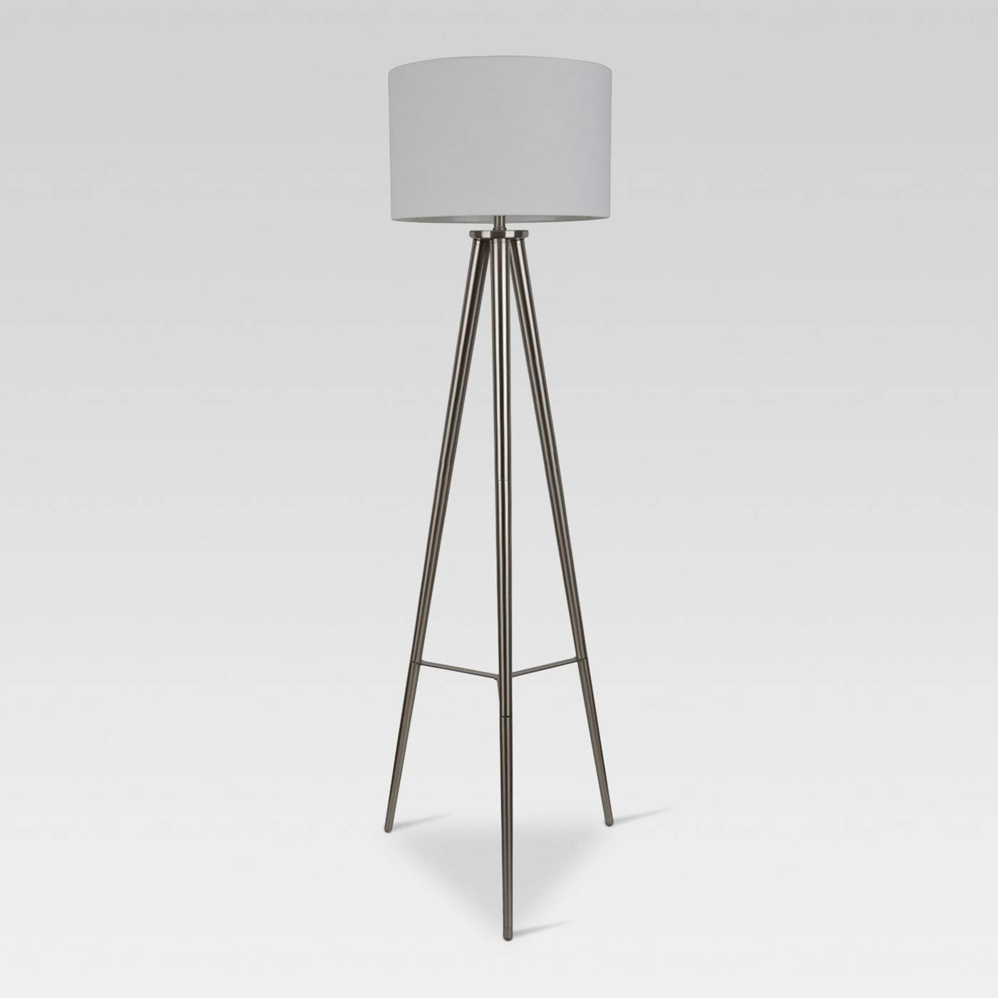 Delavan Metal Tripod Floor Lamp - Nickel
