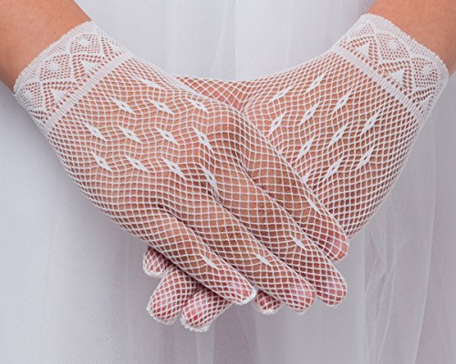 OLIVIA KOO Special Occasion Lace Gloves