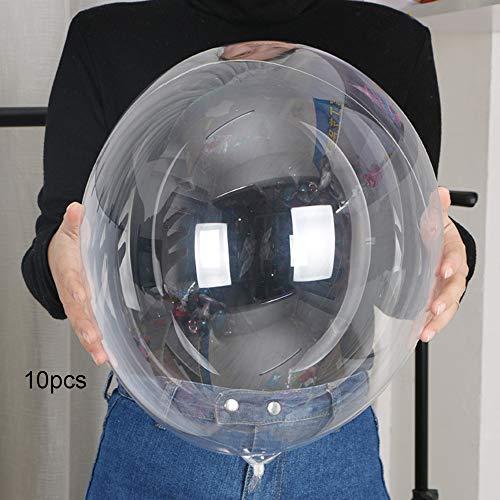 10pcs 13/18/20/24 Inch Clear Foil Helium Bobo Balloons DIY Wedding Birthday Halloween Party Decoration Transparent Balloons (24inch)