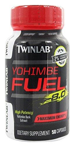 TWINLAB - Yohimbe Fuel 8.0 Dietary Supplement, High Potency Yohimbe Bark Extract for Maximum Energy, 50 Capsules