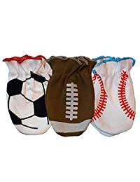 Sozo Sports Boys No Scratch Mitten Accessories, 3 pairs, One Size
