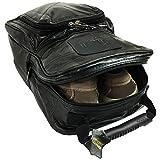 Men's Golf Shoe Bag, Black, Leather, Medium