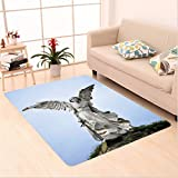 Nalahome Custom carpet Sculpture of a Guardian Angel with Sword in the Cemetery of Comillas Cantabria Spain Image Ivory area rugs for Living Dining Room Bedroom Hallway Office Carpet (6' X 9')