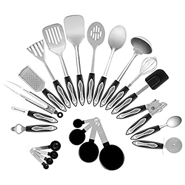 Chef Essential 23-Piece Stainless Steel Kitchen Utensil Set