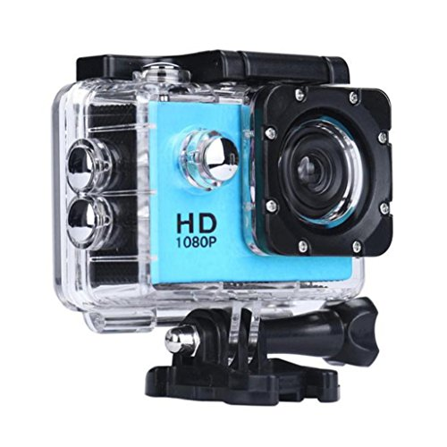 1080P Action Sports Camera -Self Timer,Tuscom Waterproof ( 30 Meters Under Water) Action Camera (1.5 Inch Ultra HD Screen)Camcorder HD 1080P Mini DV Cam (Blue)