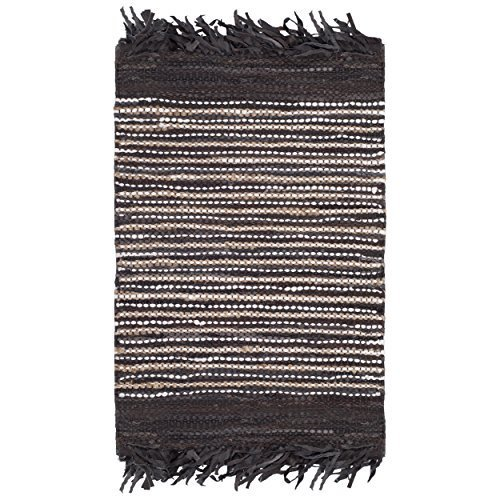 Vintage Hand Woven Rug - Safavieh Vintage Leather Collection VTL373C Hand-Woven Dark Brown and Multi Area Rug (2'3 x 4')