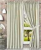 Ellis Curtaint Mason Multi Colored Stripe (Tailored Panel Pair with Tiebacks, 90 x 84'', Spa)