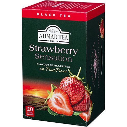 - Ahmad Teas - Strawberry Black Tea 1.4oz - 20 Tea Bags