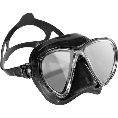 Cressi DS336950 Scuba Diving Big Eyes Evolution Mask Black/HD Mirrored Lenses