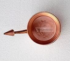 blomideal (TM) de calidad alimentaria cobre Jala Neti Pot de enjuague nasal (500 ml) | higiénica y fabricado de cobre Pur