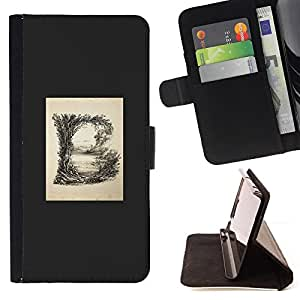 BullDog Case - FOR/Samsung Galaxy Note 3 III / - / b letter grey poster initial minimalist /- Monedero de cuero de la PU Llevar cubierta de la caja con el ID Credit Card Slots Flip funda de cuer