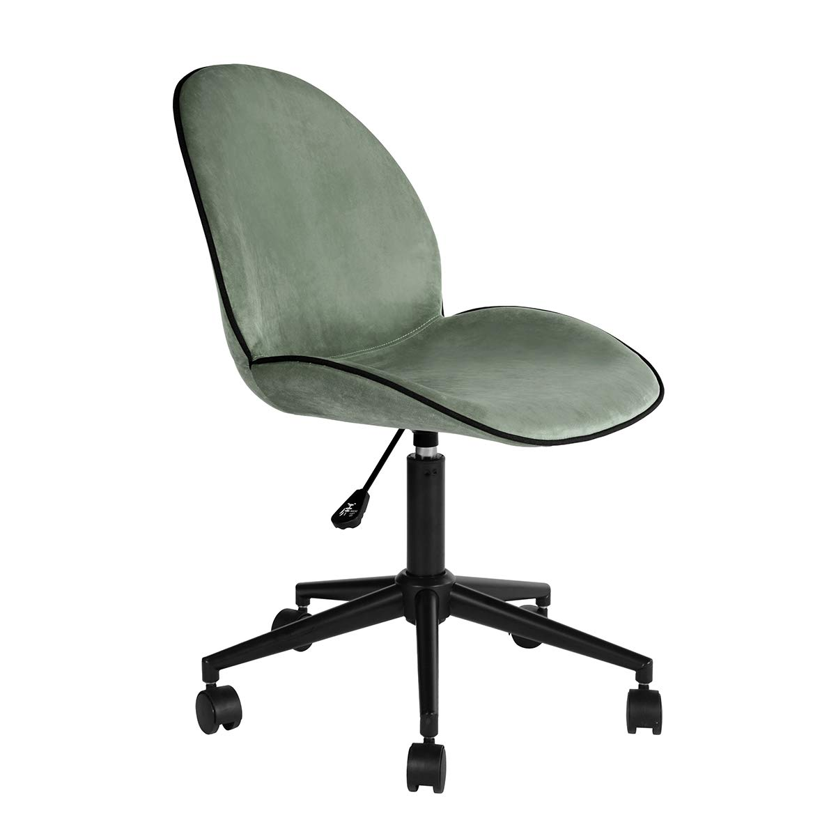 Office Chair HOMY CASA Velvet Fabric Desk Chairs Adjustable Back Support Computer Chair Wheels Conference Room, Home, Office, Workstation (Cactus)