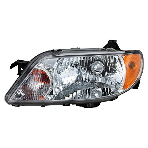 Protege Driver Side Headlight - ReplaceMyParts RM-9112052AM Headlight Head Lamp Assembly ALUMINUM BEZEL LH Left Driver Side