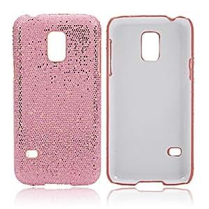 Fish Scale Texture Glitter Powder PC shield Case for Samsung S5 Mini Peachblow