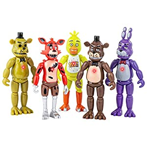 Best Epic Trends 51neVxOszhL._SS300_ Unbrannded Featured by Five Nights at Freddys | Action Figures Toy Set of 5 PCS | 6 inches | Toy Dolls for All Kids…