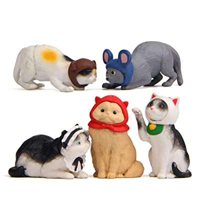 FAgdsyigao 5Pcs Small Size Model Toy Kitten Cosplay Mouse Miniature Figurine Models DIY Doll House Pet Toy: Garden & Outdoor