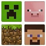 JINX Minecraft 4 Button Set (Creeper, Pig, Dirt Block, Steve)
