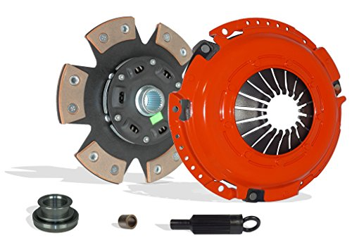 Clutch Kit Works With Chevrolet Camaro Pontiac Firebird Base Convertible Coupe 2-Door 1993-1995 3.4L 207Cu. In. V6 GAS OHV Naturally Aspirated (6-Puck Disc Stage 3)