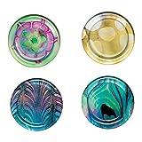 The Metropolitan Museum of Art Watercolor Glass Round Coasters, 4 Piece Set