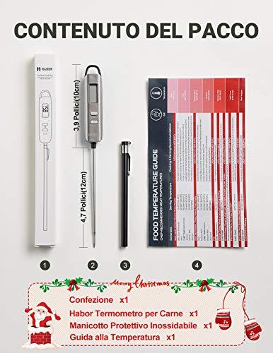 Habor Termometro Cucina Digitale, 5S Lettura Instantanea Auto-Off Termometro da Cucina per Carne, BBQ, Vino, Latte… 7