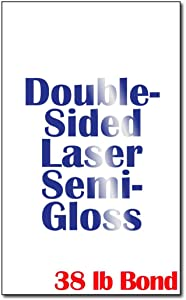"Legal Size (8 1/2"" x 14"") Laser Gloss Paper (38lb Bond) - 250 Sheets - for Laser Printers Only"