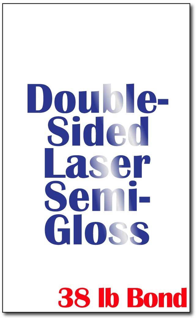 Legal Size (8 1/2'' x 14'') Laser Gloss Paper (38lb Bond) - 250 Sheets - for Laser Printers Only by Desktop Publishing Supplies, Inc.