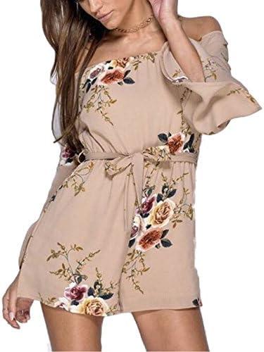 CHUANGJIE Womens Short Seleeve Scoop Neck Striae Leisure Long Dress