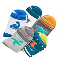 Boys Kids Dinosaur Cotton Casual Athletic Socks 3-12Y