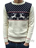 Product review for Fuzzdandy - Mens Kitsch Reindeer Christmas Jumper Sweater Navy Xs S M L Xl