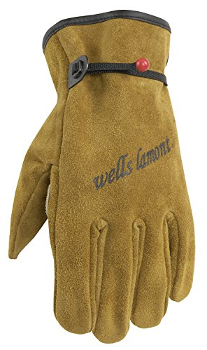 WELLS LAMONT Heavy Duty Leather Work Gloves, Suede Cowhid...