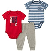 Tommy Hilfiger Baby Boys 3 Pieces Creeper Pants Set