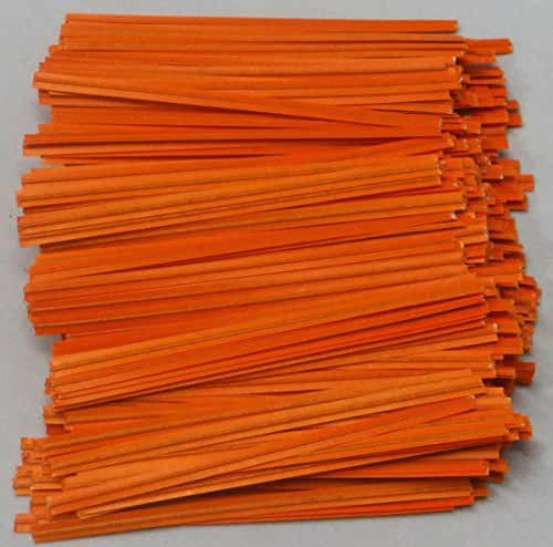 Orange Paper Twist Ties 100 Count 3 1/2