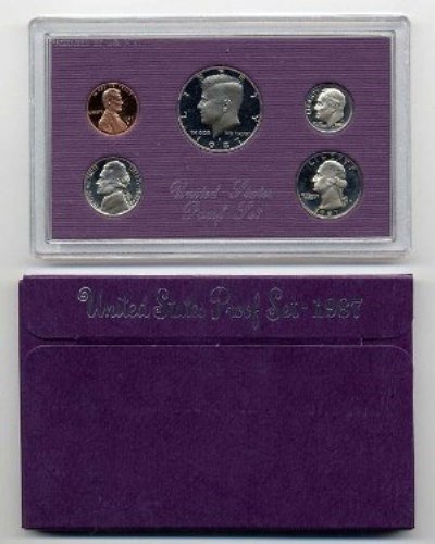 1987 Coin (1987 S US 5 Piece set Proof In original packaging from US mint Proof)