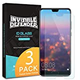 Ringke Invisible Defender [3-Pack] Tempered Glass Screen Protector Compatible with Huawei P20 - Case Compatible Ultimate Clear Shield, High Definition Quality, 9H Hardness Technology
