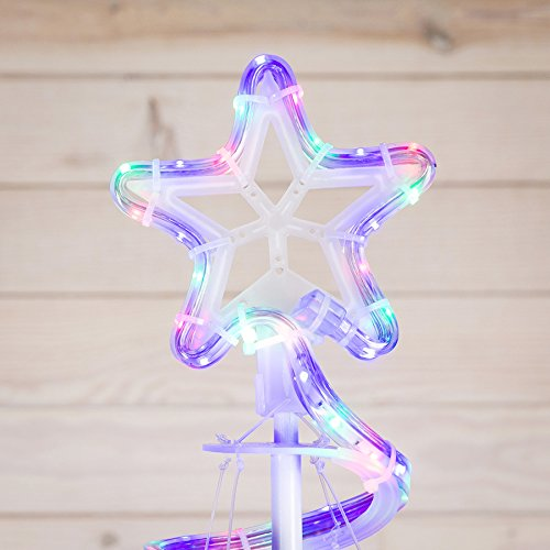 GE 7-ft Freestanding Spiral Tree with Multi-Function Multi-Colored LED Lights Indoor/Outdoor Decoration