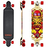 Rimable 41 Inch Drop Deck Complete Longboard (Red Skull)