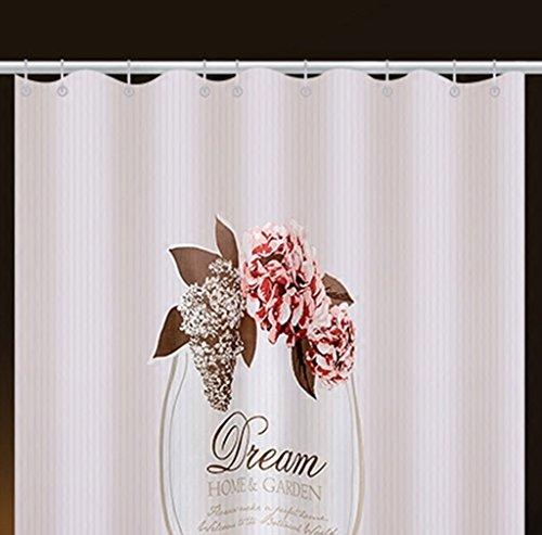 LQQ Mold Mildew Shower Curtain- Mildew Waterproof Shower Curtain, Thickened Set Free Punch, Toilet partition Curtain, Bathroom Curtain. -Cartoon Bathroom Curtain by LQQ (Image #2)