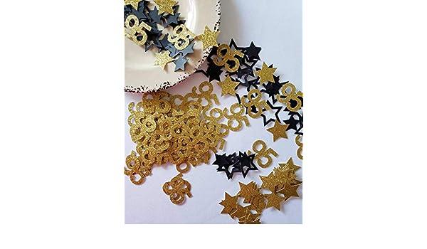 Amazon 95th Birthday Decorations Confetti 50 Pieces Gold Glitter Handmade