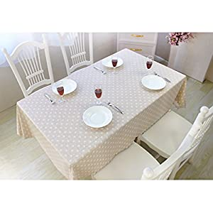 DuoFire Vinyl Tablecloth Rectangle Wipe Clean Table Cover Waterproof Stain Resistant Oil Proof Spill Proof Heavy Weight PVC Tablecloths for Outdoor/Indoor/Kitchen use (53 x 72 Inch, Color-No.014)
