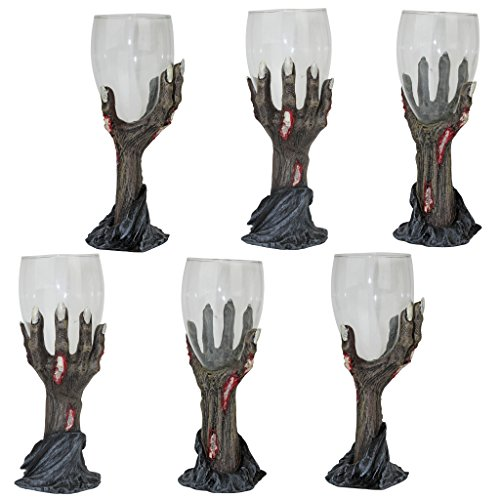 Design Toscano Toast of the Zombie Sculptural Goblet: Set of Six by Design Toscano (Image #1)