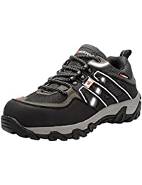 Men's Work Safety Shoes, Steel Toe Puncture Proof Footwear Industrial and Construction Shoes