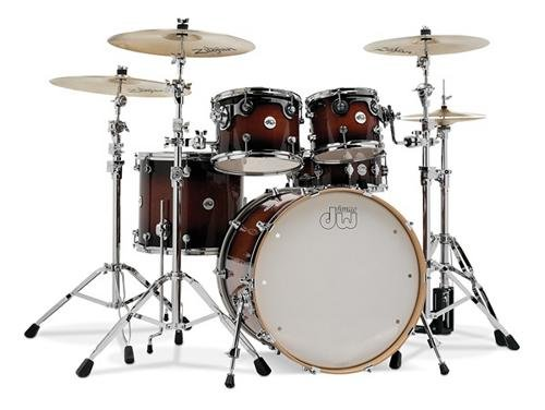 DW Design Series Drum Set 22/10/12/16/14 – Tobacco Burst