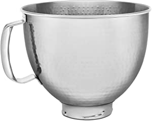 KitchenAid KSM5SSBHM Hammered Stainless Steel Stand Mixer Bowl, 5 Qt